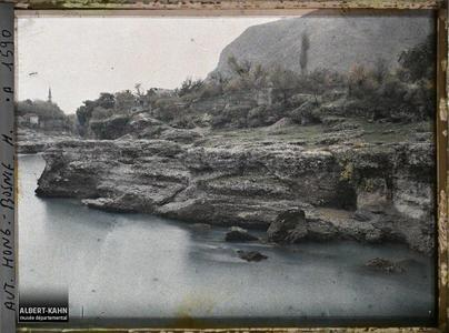 Bosnie, Mostar, Bords de la Narenta.Bords de la Neretva