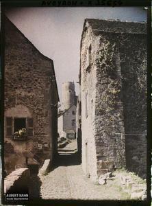 France, Najac, Rue menant au Château