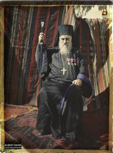 Syrie, Tripoli, Portrait de Monseigneur Domani Evêque Catholique. Monseigneur Domani, évêque catholique de l'église maronite