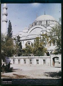 Une façade de la Süleymaniye Camii (mosquée de Soliman le Magnifique)