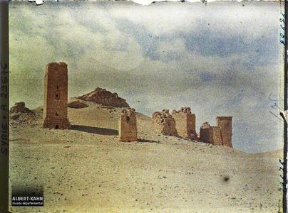 Syrie, Palmyre, Ensemble des Tours Sépulcrales. Tours funéraires des nécropoles de Palmyre