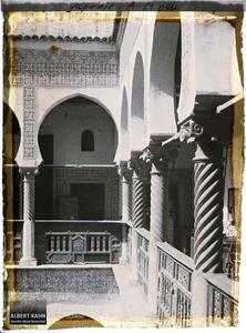 Bibliothèque nationale - Arcades du 1er Etage.La galerie du premier étage du patio de la Bibliothèque nationale (Dar Mustapha Pacha)