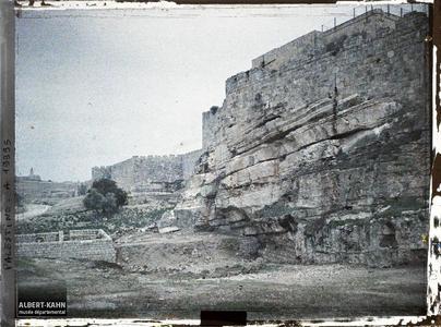 Syrie, Jérusalem, Enceinte nord de la ville.Remparts nord de l'enceinte de la vieille ville