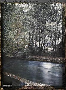 Bosnie, Sarajevo, Sources de la Bosna: vue sur les herbes du fond de l'eau et sur les herbes sèches.Sources de la Bosna: vue sur les herbes du fond de l'eau et sur les herbes sèches