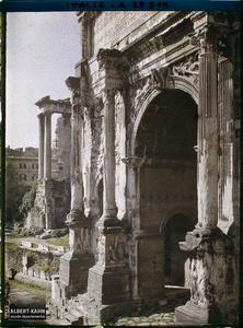 Italie, Rome, Arc de triomphe de Septime Sévère.Arc de triomphe de Septime Sévère