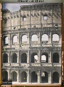 Italie, Rome, Colisée (détail du grand mur).Colisée détail du grand mur