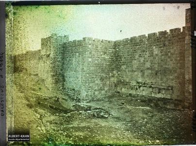 Syrie, Jérusalem, Enceinte nord de la ville.Rempart nord de l'enceinte de la vieille ville