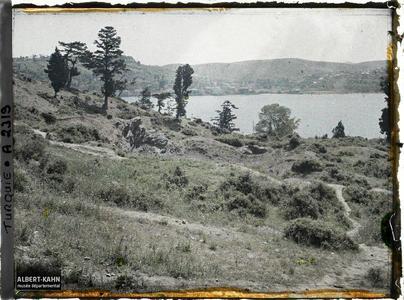 Turquie, Rouméli-Hissar, Paysage sur les bords du Bosphore. Les rives du Bosphore