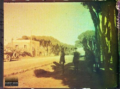 Syrie, Beyrouth, Général Gouraud voir le 19 800. Le général Gouraud, haut-commissaire de la République française, et le Général britannique Congrewe passant en revue des troupes britanniques alliées