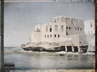Arabie, El-Ouedj, El-Ouedj. Construction du bord de mer