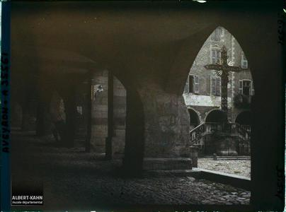 France, Villefranche de Rouergue (Aveyron), Arcades Alphonse de Poitiers