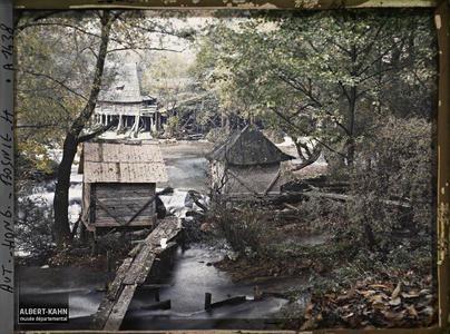 Bosnie, Jajce, Ensemble de moulins.Ensemble de moulins [sur la Pliva]