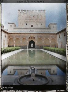 Espagne, Grenade, Cour des Myrtes (Alhambra).Alhambra : la cour des Myrtes