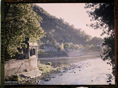 France, Villefranche de Rouergue (Aveyron), Confluent de l'Alzou et de l'Aveyron