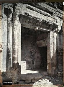 Syrie, Palmyre, Temple du Soleil, La Porte du Temple. Porte du Temple de Bêl